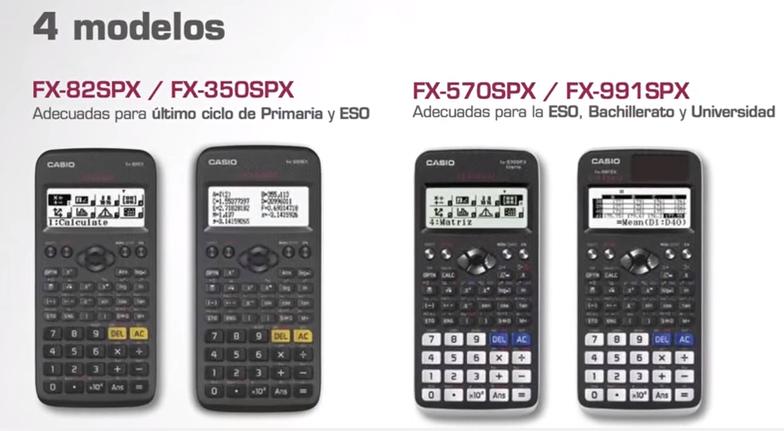 76f24308c858 Tabla de diferencias entre modelos ClassWiz. Seleccionamos los ...